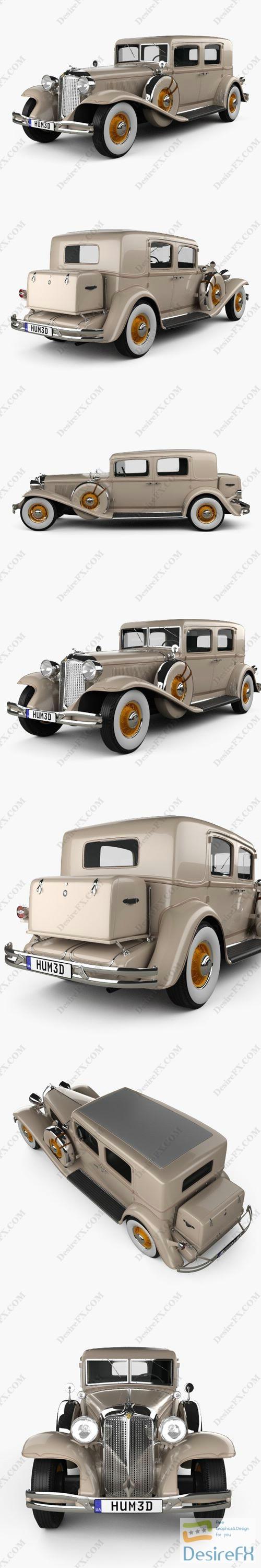 Chrysler Imperial Close Coupled Sedan 1931 3D Model