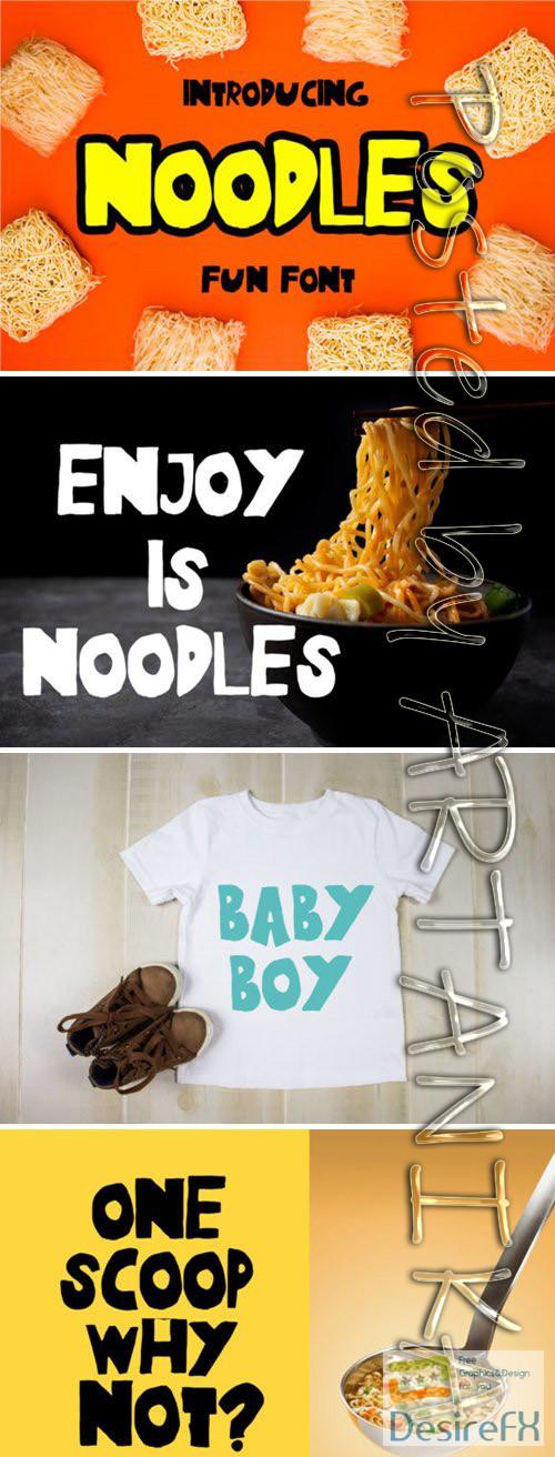 fonts - Noodles Font