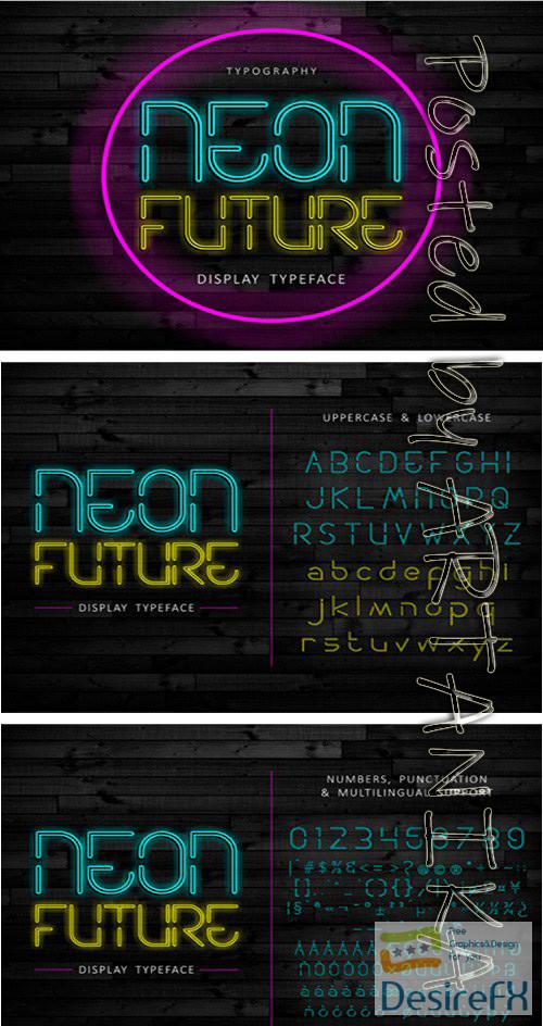 fonts - Neon Future Font