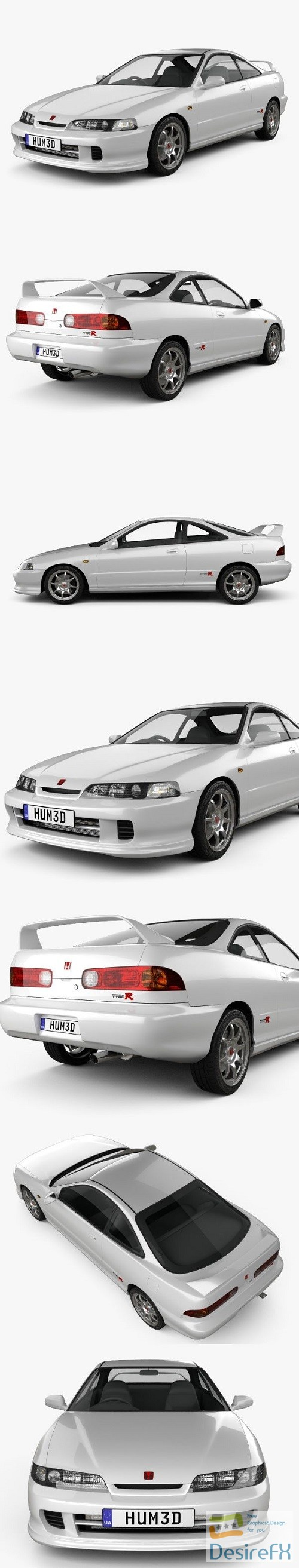 3d-models - Honda Integra Type-R coupe 1995 3D model