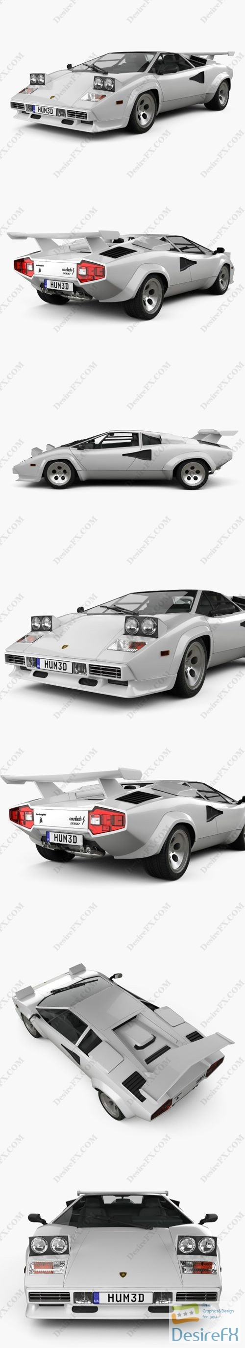3d-models - Lamborghini Countach 5000 QV 1985 3D Model