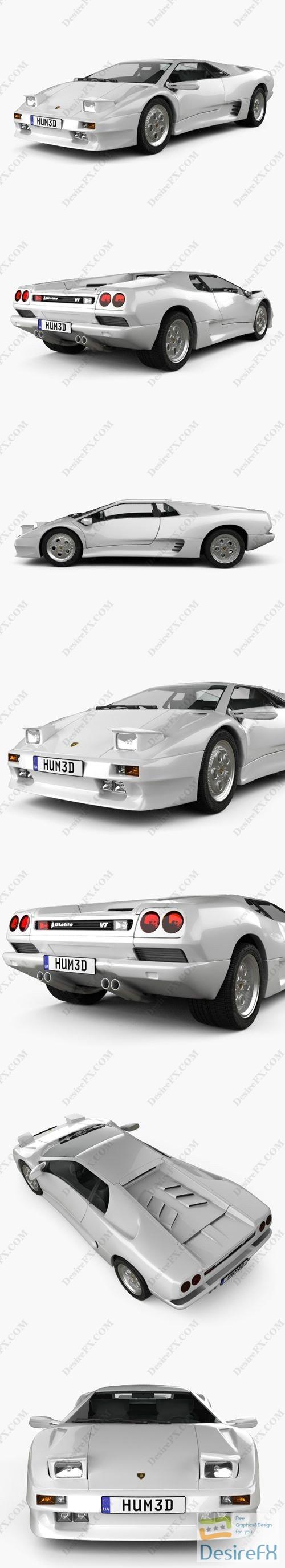 Lamborghini Diablo VT 1993 3D Model