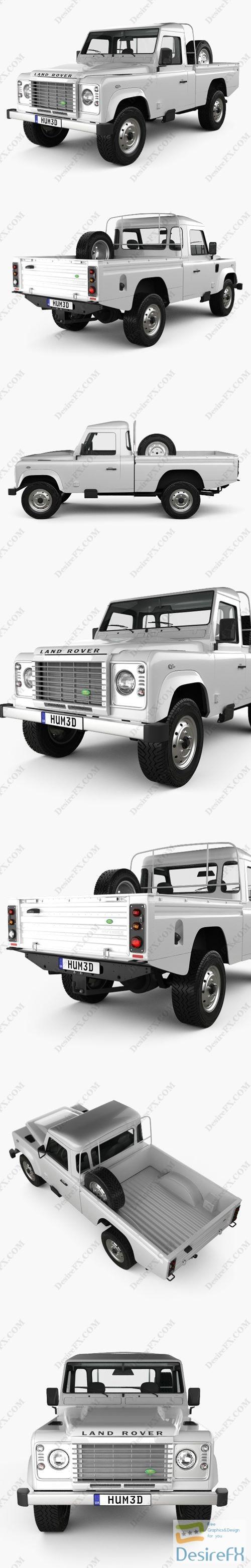 3d-models - Land Rover Defender 110 High Capacity PickUp 2011 3D Model