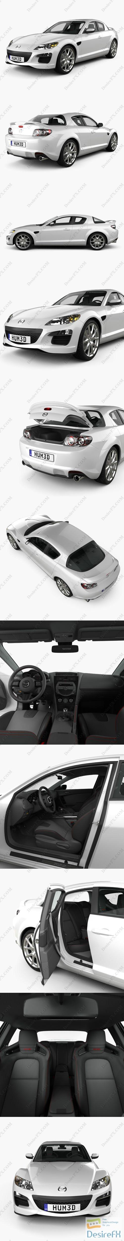 3d-models - Mazda RX-8 with HQ interior 2008 3D Model