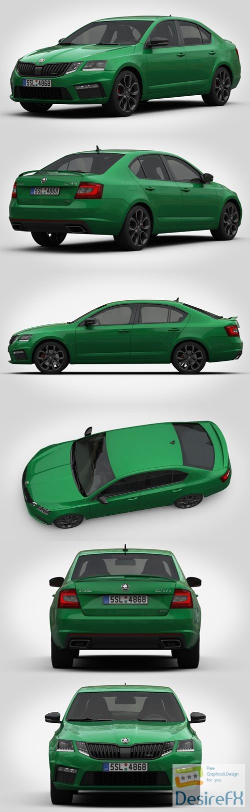 3d-models - Skoda Octavia RS 2017 3D Model