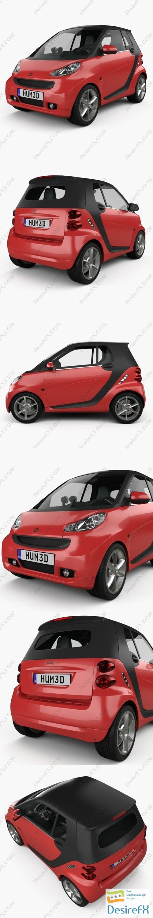 Smart Fortwo convertible Hard Top 2011 3D Model