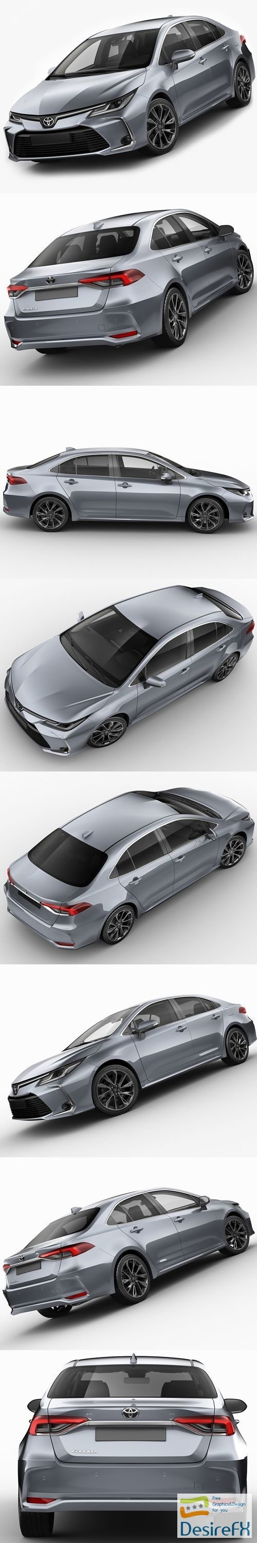 3d-models - Toyota Corolla Sedan EU 2019 3D Model