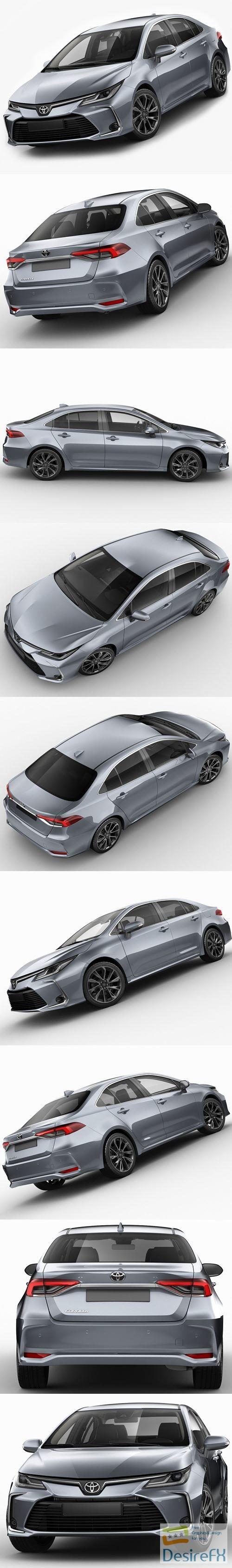 Toyota Corolla Sedan EU 2019 3D Model