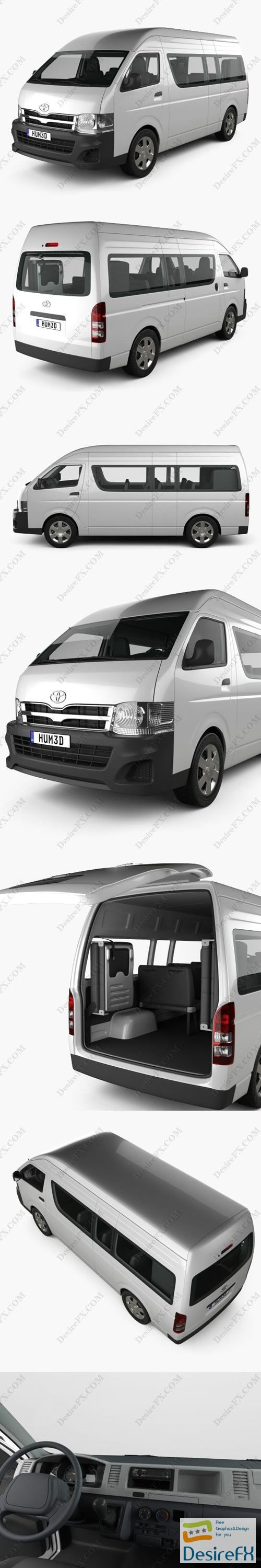 3d-models - Toyota HiAce Super Long Wheel Base with HQ interior 2012 3D Model
