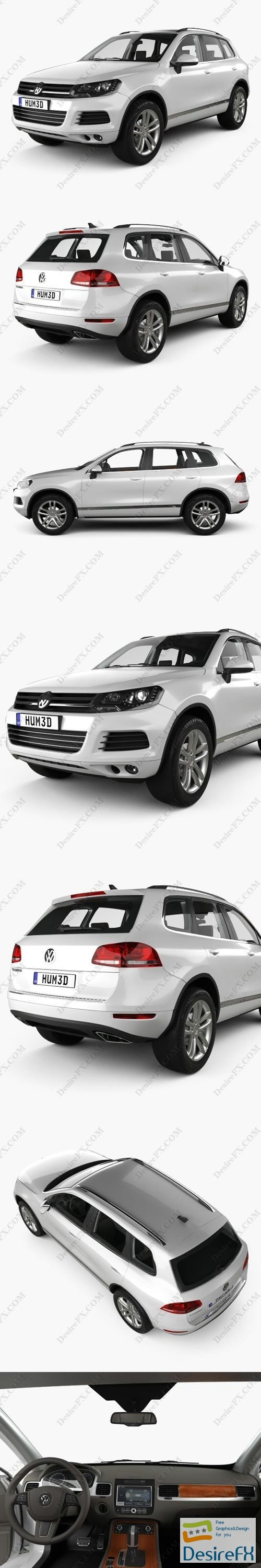 Volkswagen Touareg with HQ interior 2010 3D Model