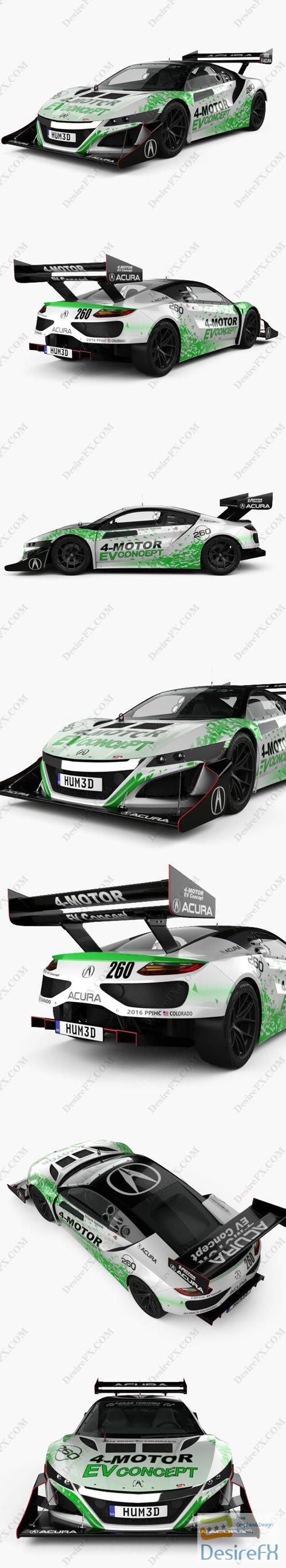 Acura NSX EV 2016 3D Model