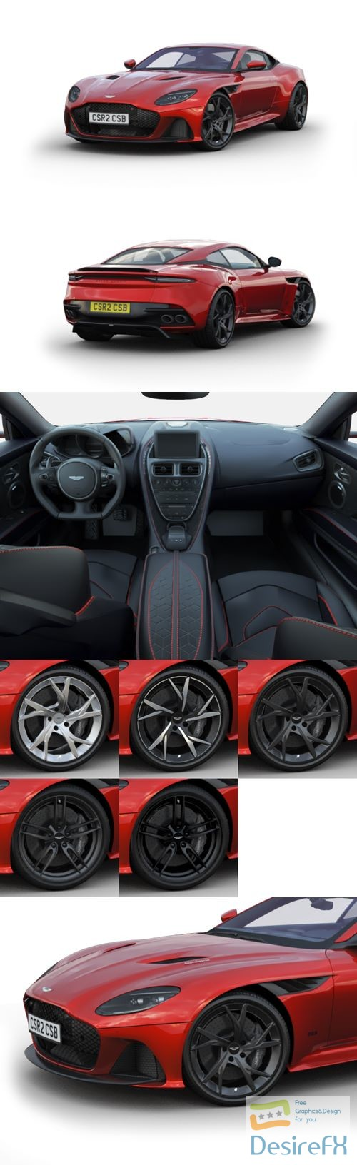 Aston Martin DBS Superleggera 2019 3D Model