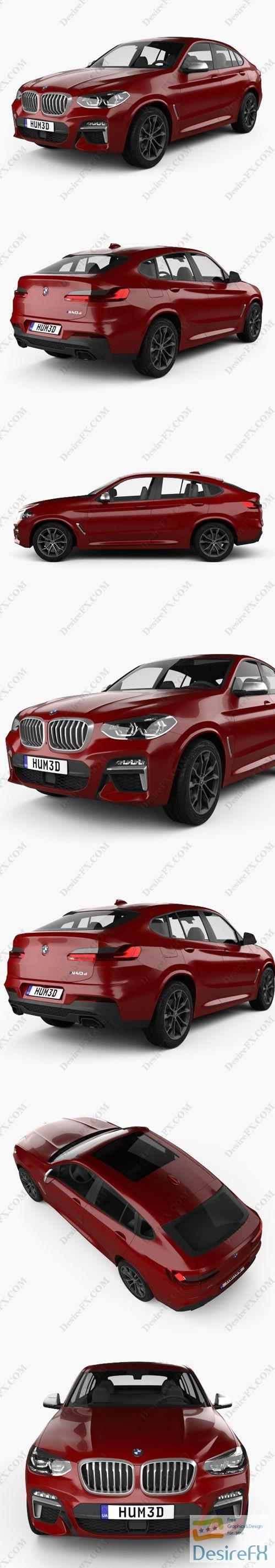 BMW X4 M sport (G02) 2019 3D Model