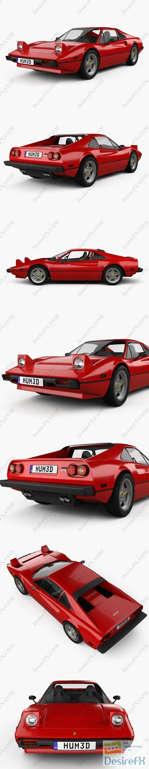 Ferrari 308 GTB GTS 1975 3D Model