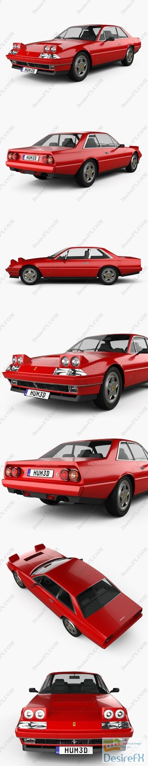 Ferrari 412 1985 3D Model