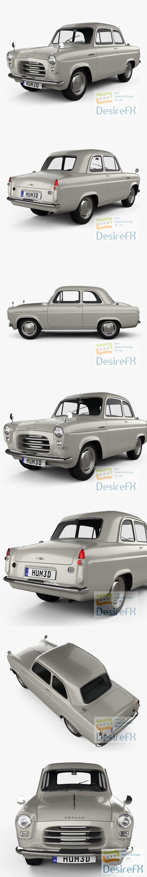 Ford Anglia 100E 1953 3D Model