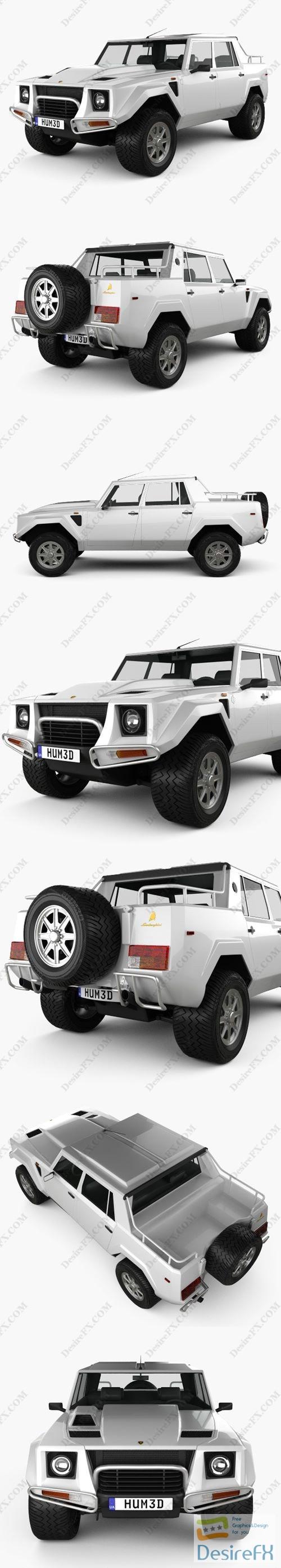 Lamborghini LM002 1986-1993 3D Model