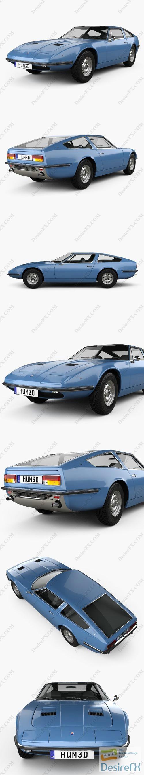 Maserati Indy 1969 3D Model