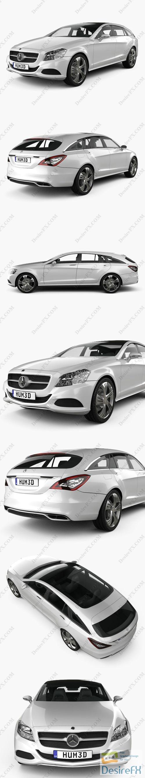 Mercedes-Benz Shooting Break concept 2011 3D Model