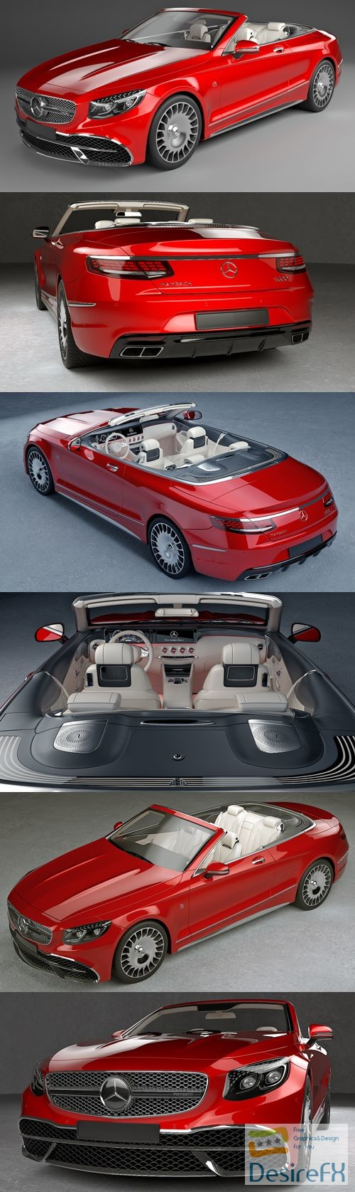 Mercedes Maybach Coupe Cabriolet 2020 3D Model