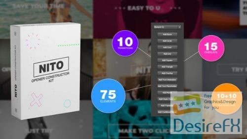 Videohive NITO - Opener Element Constructor Pack 23770484