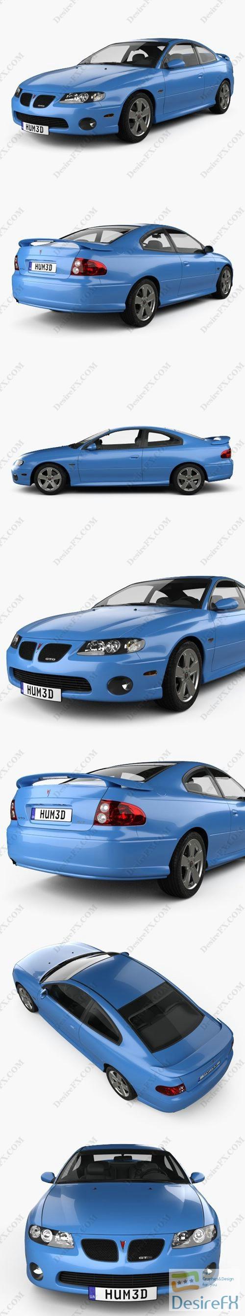 Pontiac GTO 2003 3D Model