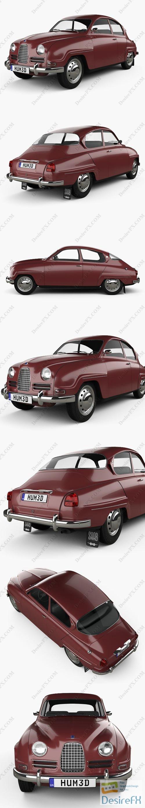 Saab 96 1960 3D Model