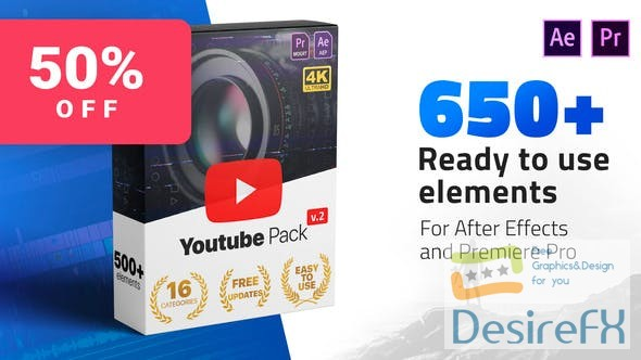 Videohive Youtube Pack V2 24980642
