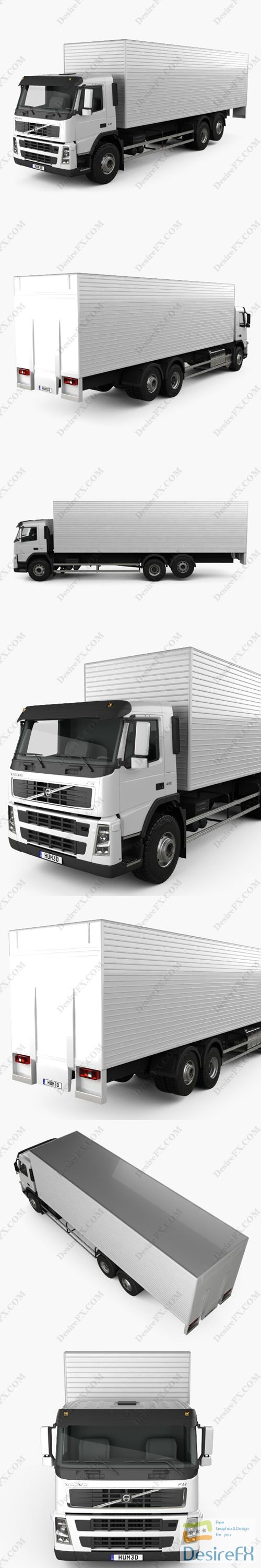 Volvo FM Truck 6x2 Delivery 2010 3D Model