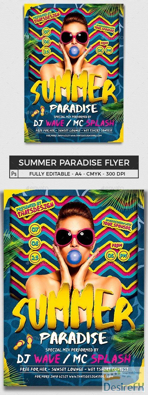 Summer Paradise Flyer Template - 15953769 - 659503