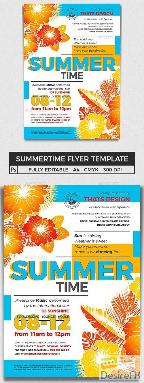 Summertime Flyer Template V2 - 16473326 - 719987