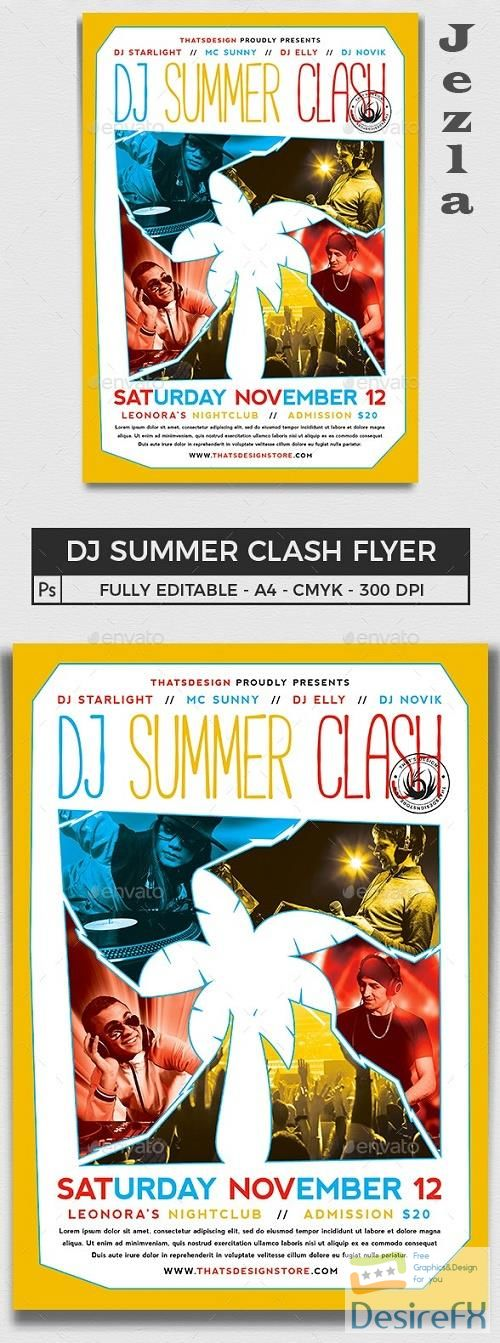 DJ Summer Clash Flyer Template - 16250333 - 691262