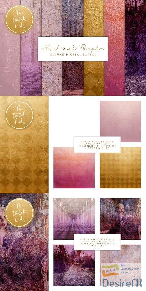 Mystical Purple Digital Backgrounds - 4745549