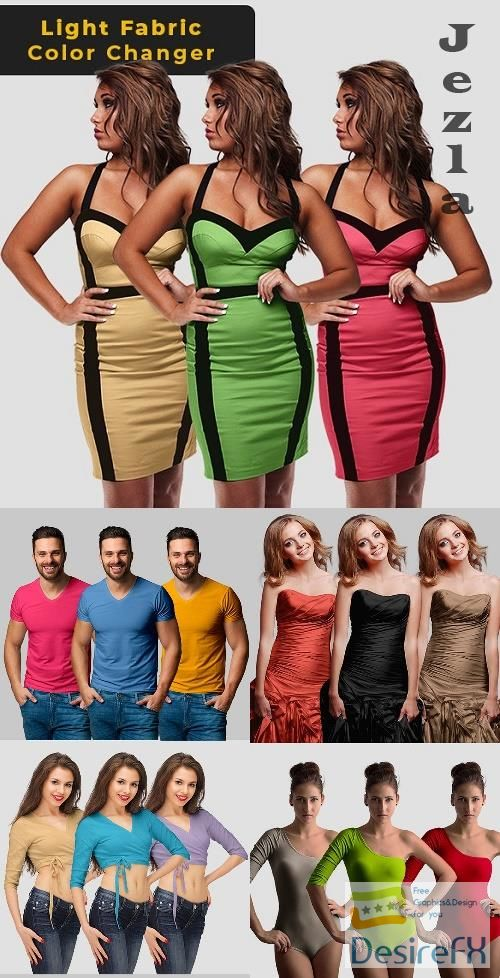 Light Fabric Color Changer - Photoshop Action - 26003619