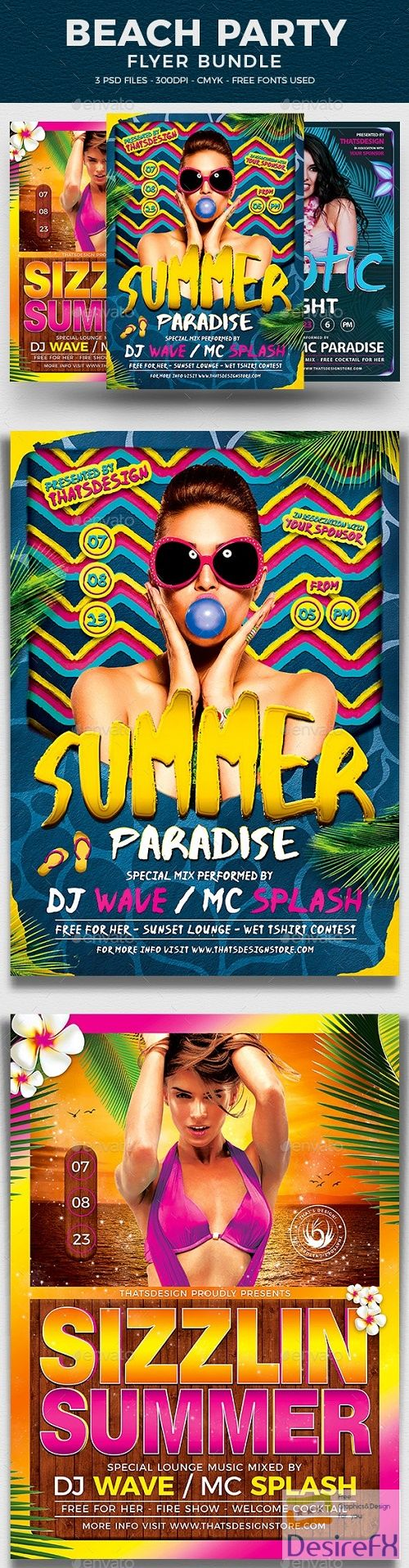 Beach Party Flyer Bundle V3 - 17222202 - 800861