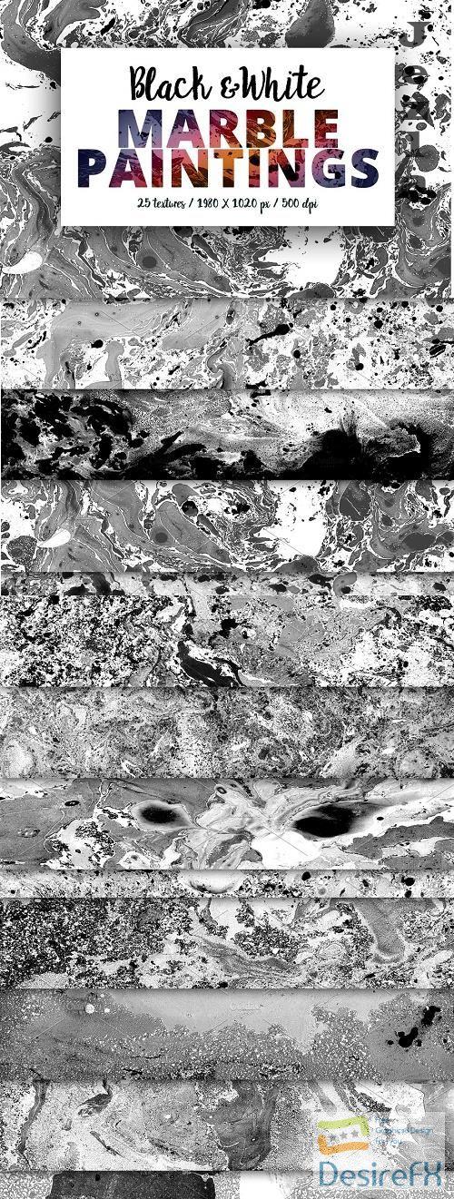 Black & White Marble Paintings - 398379