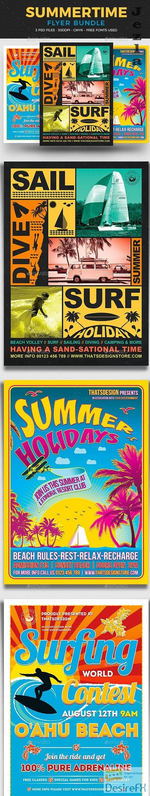 Summertime Flyer Bundle V1 - 17213780 - 800554