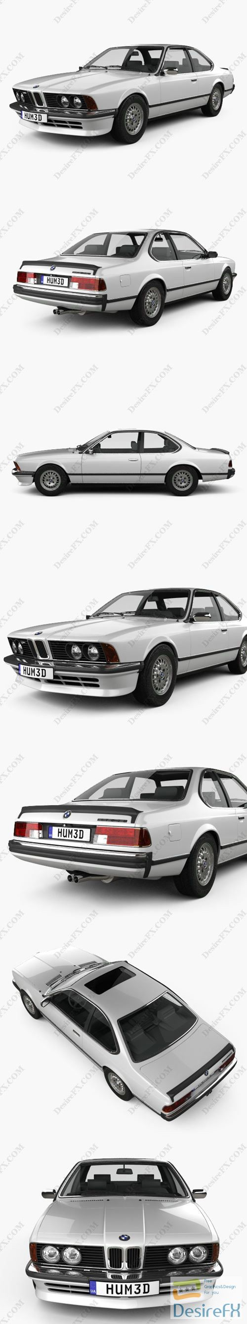 Download BMW 6 Series (E24) 1978 3D Model | DesireFX.COM