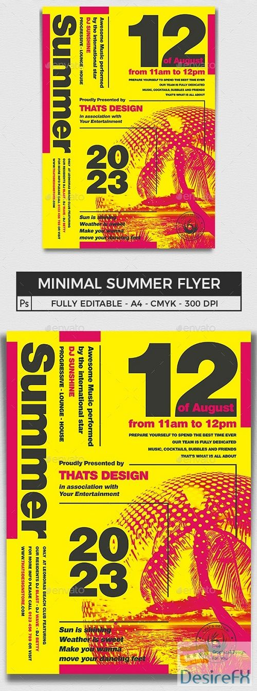 Minimal Summer Flyer Template V1 - 16540130 - 727538