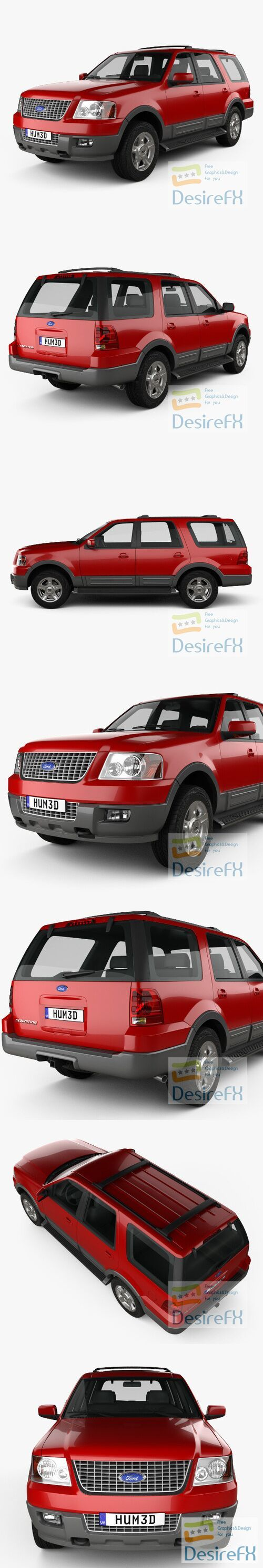 Ford Expedition 2003 3D Model