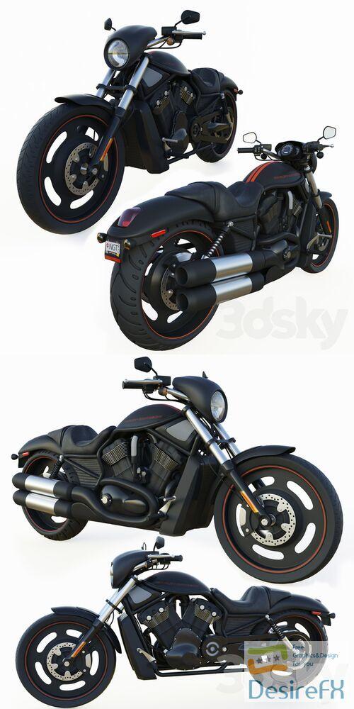 Harley-davidson night rod 3D Model