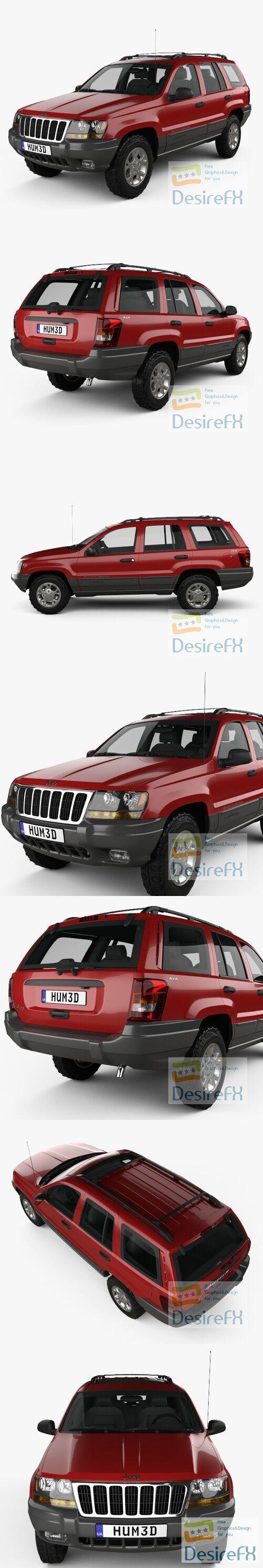 Jeep Grand Cherokee 1998 3D Model