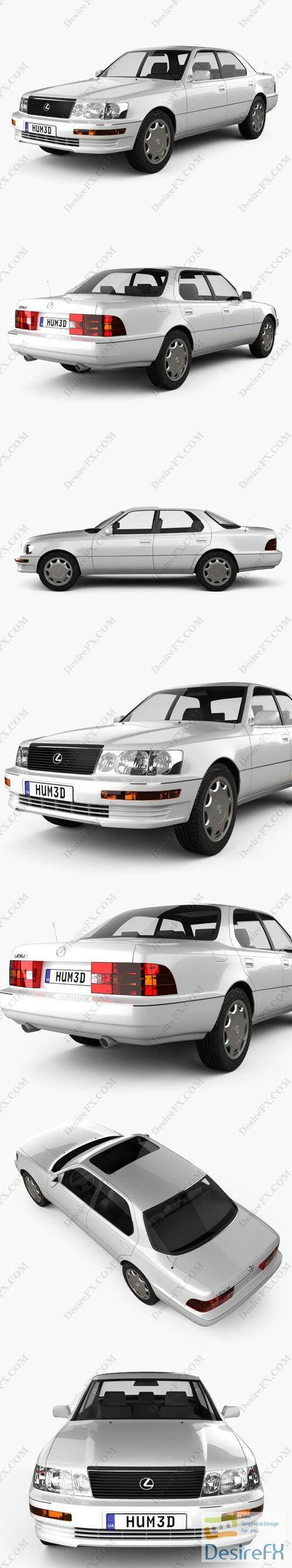 Lexus LS 1989 3D Model
