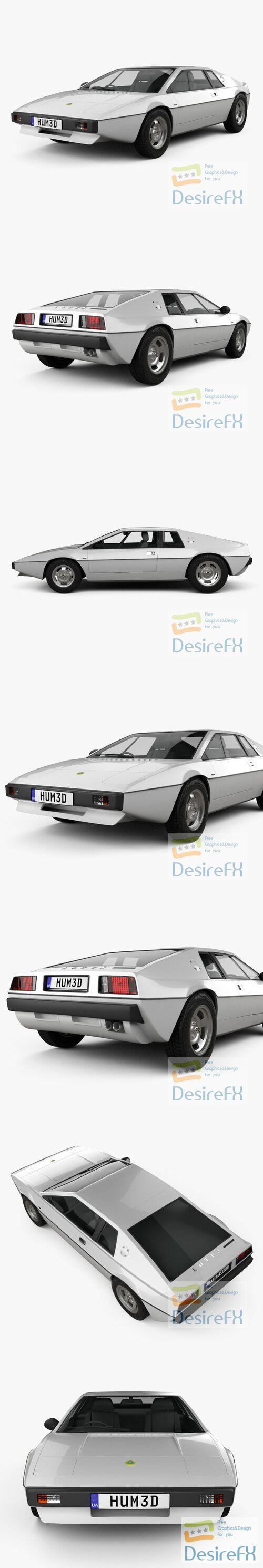 Lotus Esprit S1 1976 3D Model