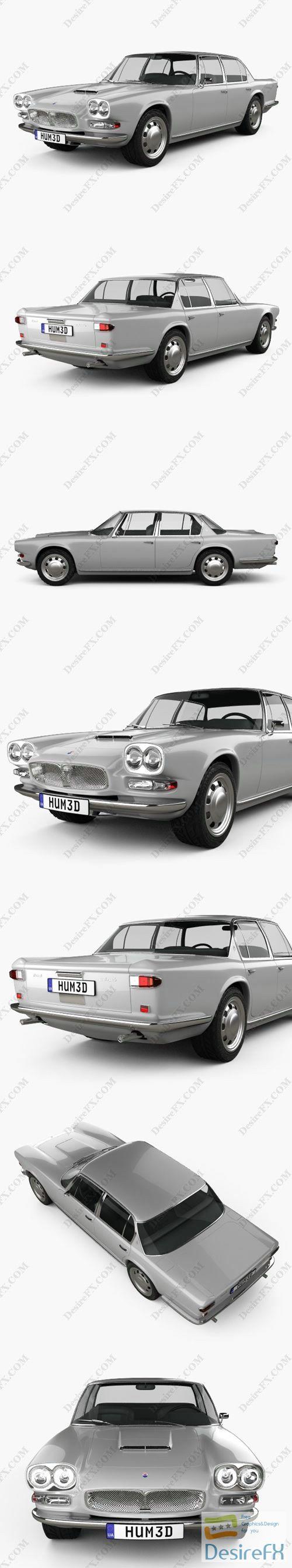 Maserati Quattroporte 1966 3D Model