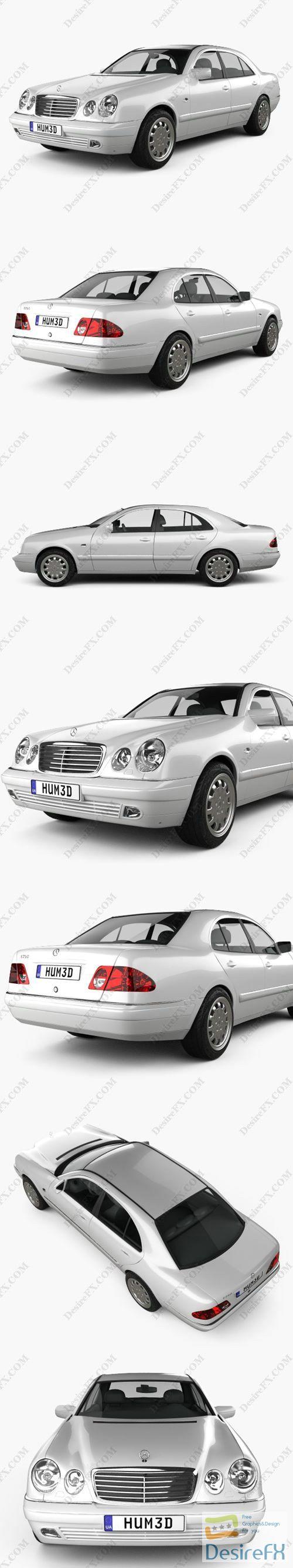 Mercedes-Benz E-Class sedan (W210) 1996 3D Model