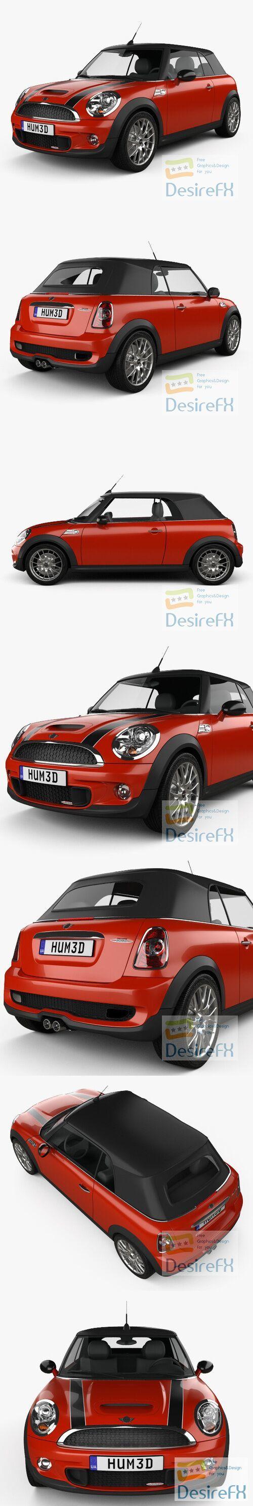 Mini John Cooper Works Convertible 2011 3D Model