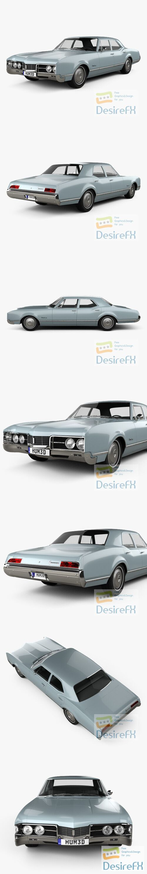 Oldsmobile 88 Delmont sedan 1967 3D Model