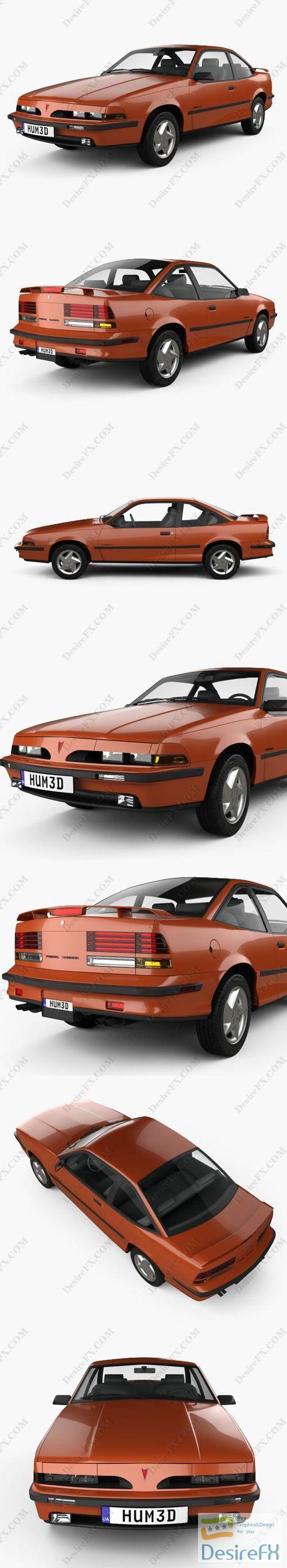 Pontiac Sunbird GT Coupe 1986 3D Model