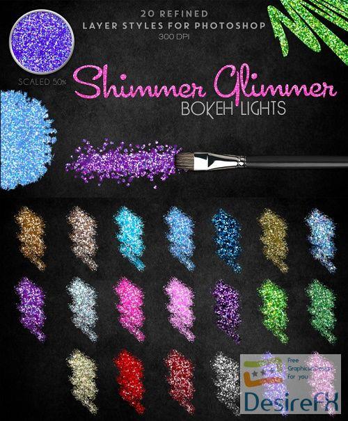 Thehungryjpeg - Shimmer Glimmer Mini Bokeh Lights - 98482